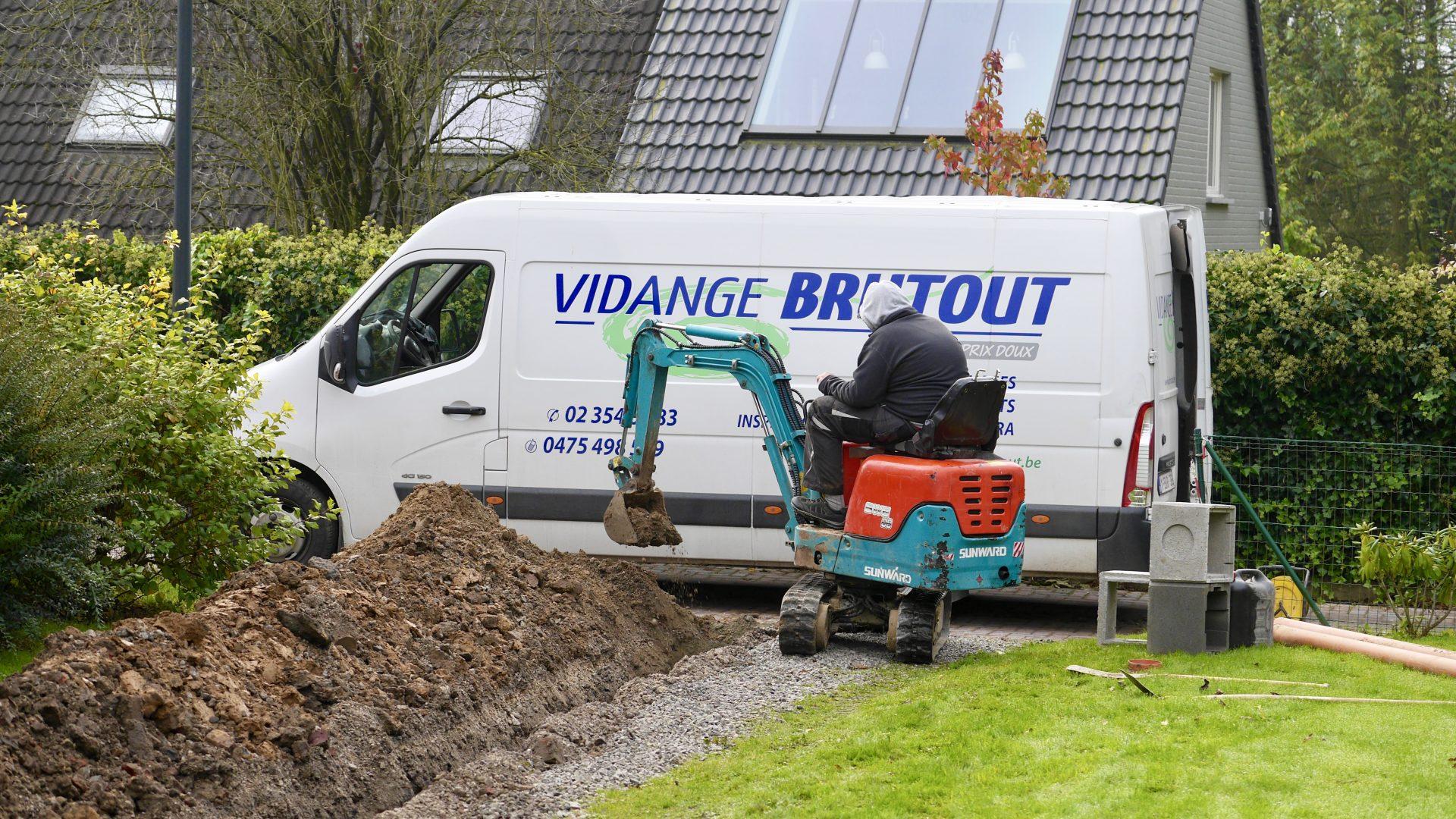 reparation des egouts Brabant Wallon