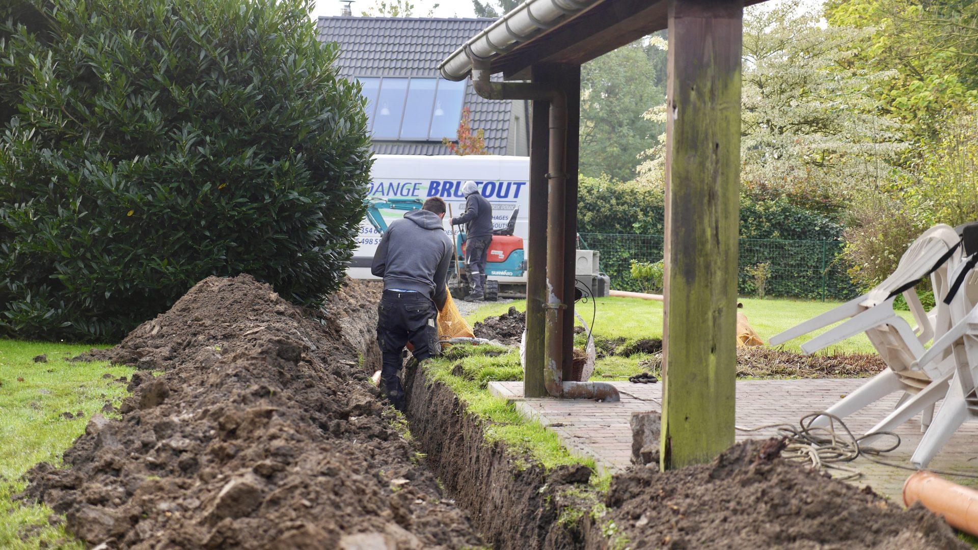 travaux egouts Brabant Wallon